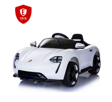 Детский Электромобиль Electric Toys Porsche Sport QLS Lux кожанное сидение мягкие кол.белый