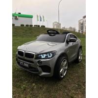 Детский электромобиль Electric toy BMW X6M LUX 4X4 (2020) ПОЛНЫЙ ПРИВОД серый графит (автокраска) 4 мотора по 35W, функция качания