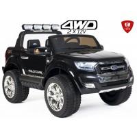 Детский двухместный электромобиль Electric Toys Ford Ranger Lux 24V 4х4 полноприводной цвет черный