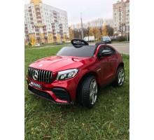 Детский электромобиль Electric toys Mercedes GLC63S ПОЛНЫЙ ПРИВОД 4х4 цвет Спелая Вишня (автокраска)